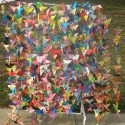 Butterfly Curtains and 1000 Paper Butterflies by JoAnn Abbott